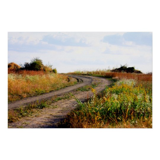 """Around The Bend"" Landscape Photography Art Poster"