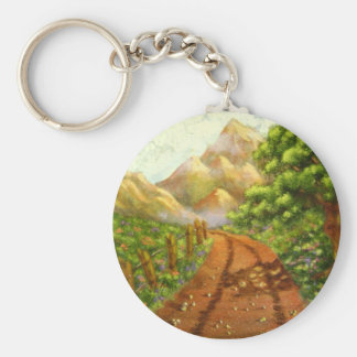 Around the Bend: Nature Themed Acrylic Landscape Keychain