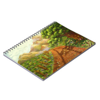 Around the Bend: Original Landscape Ruled Spiral Notebook