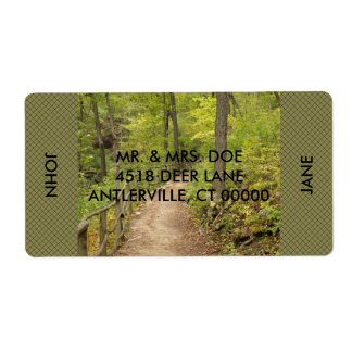 Around the Bend Personalized Shipping Labels