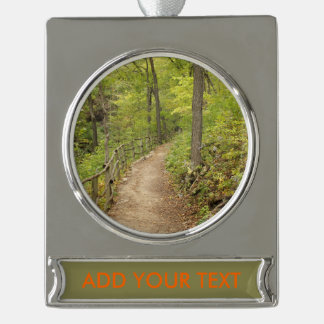 Around the Bend Silver Plated Banner Ornament