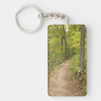 Around the Bend Single-Sided Rectangular Acrylic Keychain
