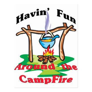 Around the Campfire Postcard