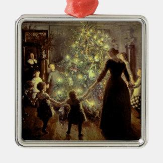 Around the Christmas Tree Metal Ornament