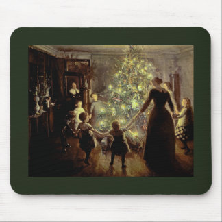 Around the Christmas Tree Mouse Pad