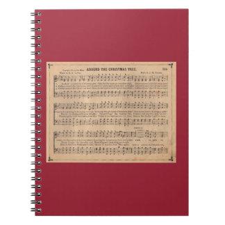 Around the Christmas Tree Spiral Notebooks