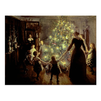 Around the Christmas Tree Postcard
