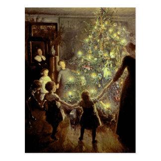 Around the Christmas Tree Postcard