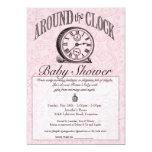 Around the Clock Baby Shower Invitation - Pink