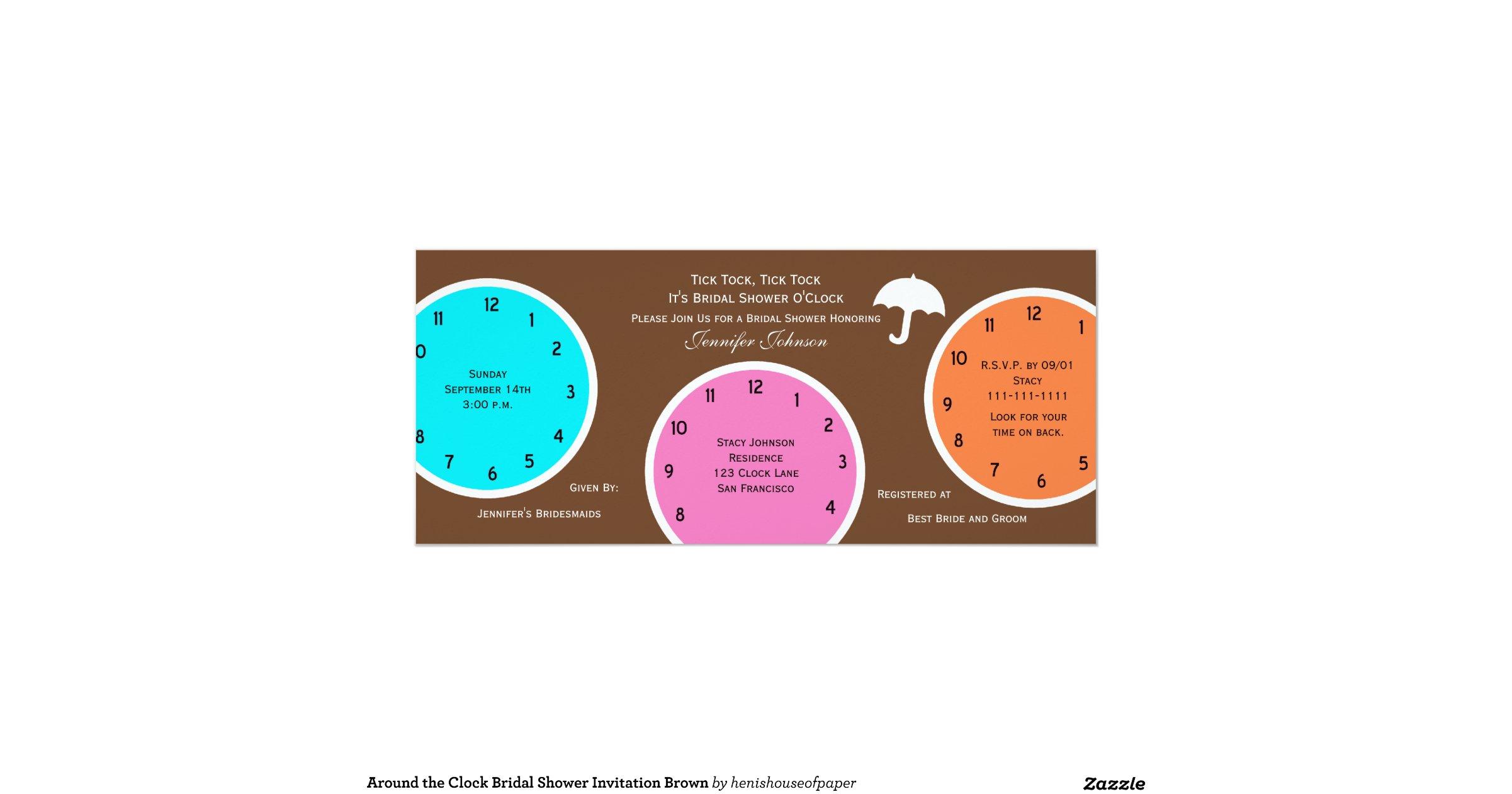 Around The Clock Bridal Shower Invitation Brown Rb7cdb086f5fc439585869a50bb15973c Zk9gb 1200