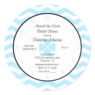 Around The Clock Bridal Shower Invitations Zazzle