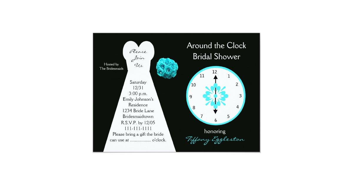 Around the Clock Bridal Shower Invitations | Zazzle.com