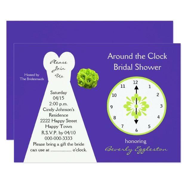 Around The Clock Shower Invitations was best invitation example