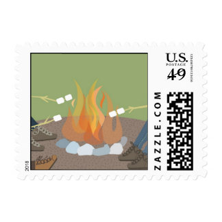 Around the Firepit Postage Stamps