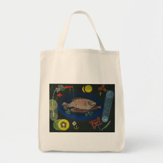 Around the Fish - Paul Klee Grocery Tote Bag