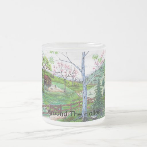 Around The Holler 10 Oz Frosted Glass Coffee Mug