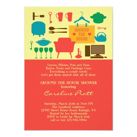 around the house bridal shower invitation