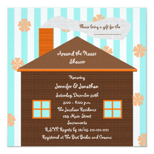 around the house bridal shower invitation house