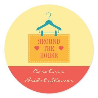 Around the House Favor Sticker sticker