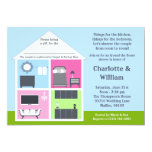 Around the House Shower Bridal Shower Personalized Invitations