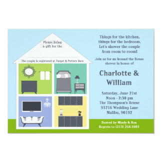 Around the House Shower Bridal Shower 5x7 Paper Invitation Card