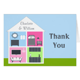Around the House Wedding Shower Thank You Card
