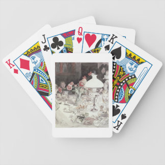 Around the Lamp at Evening, 1900 (w/c on paper) Bicycle Playing Cards