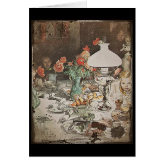 Around the Lamp at Mealtime Card