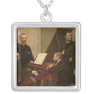 Around the Piano, 1885 Silver Plated Necklace