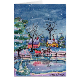 Around the Pond Stationery Note Card
