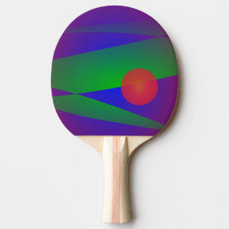 Around the Sun Ping Pong Paddle
