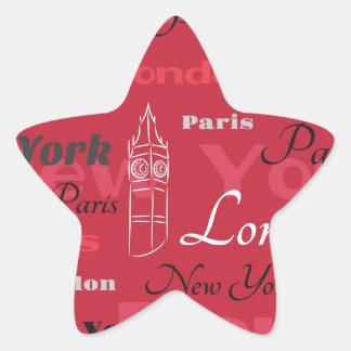 Around the Woold Star Sticker