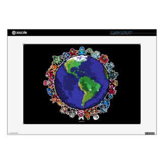 "Around the World 15"" Laptop Decal"
