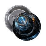 Around the World Abstract Art Button (round)