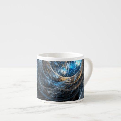 Around the World Abstract Art Espresso Mug