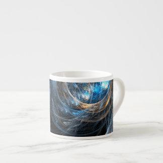 Around the World Abstract Art Espresso Mug 6 Oz Ceramic Espresso Cup