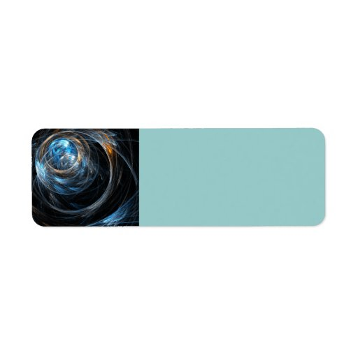 Around the World Abstract Art Label