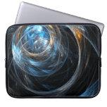 Around the World Abstract Art Laptop Sleeve