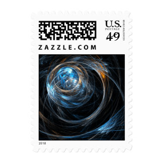 Around the World Abstract Postage Stamp