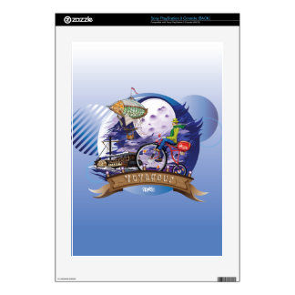 Around The World Colorful Poster Illustration PS3 Decals