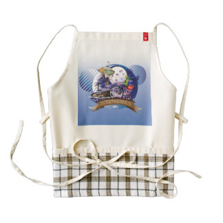 Around The World Colorful Poster Illustration Zazzle HEART Apron