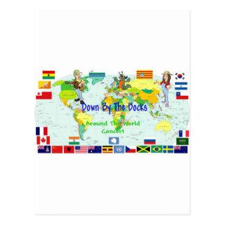 Around The World Concert Postcard
