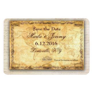 Around the world destination save the date magnet