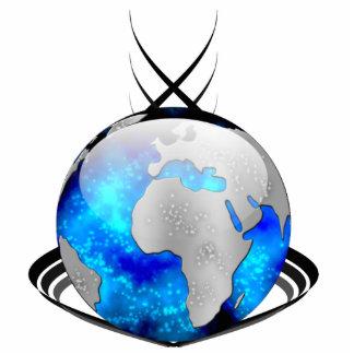 Around The World Globe Photo Sculpture Keychain