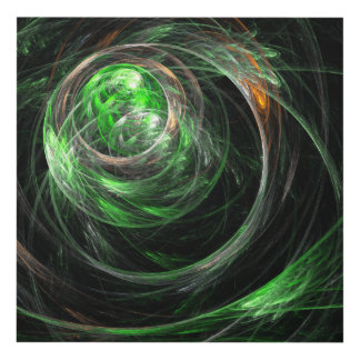 Around the World Green Abstract Art