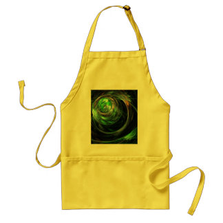 Around the World Green Abstract Art Apron