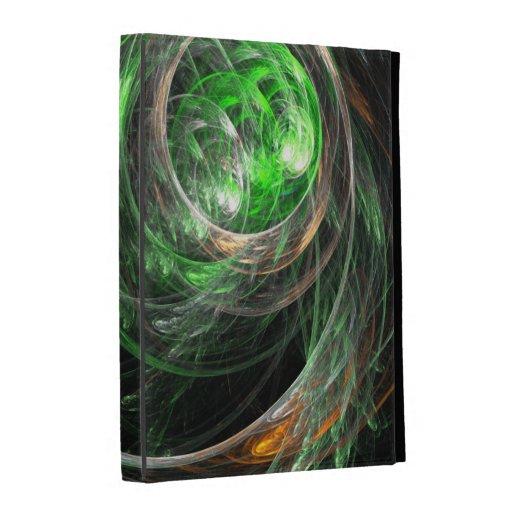 Around the World Green Abstract Art iPad Folio Cases