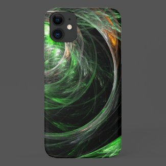 Around the World Green Abstract Art Case-Mate iPhone Case