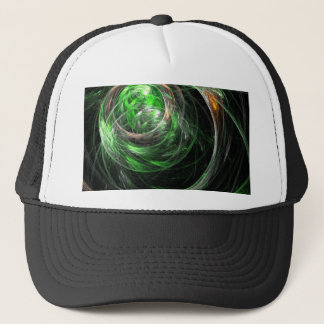 Around the World Green Abstract Art Hat