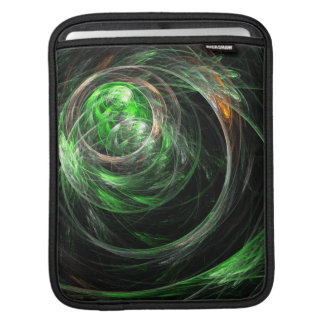 Around the World Green Abstract Art iPad Sleeve